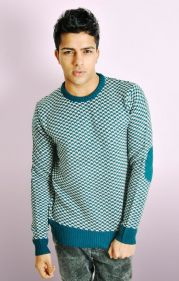 HOUNDSTOOTH PATTERN KNITTED JUMPER